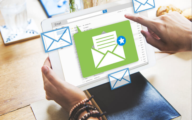 E-mailmarknadsföring på en surfplatta