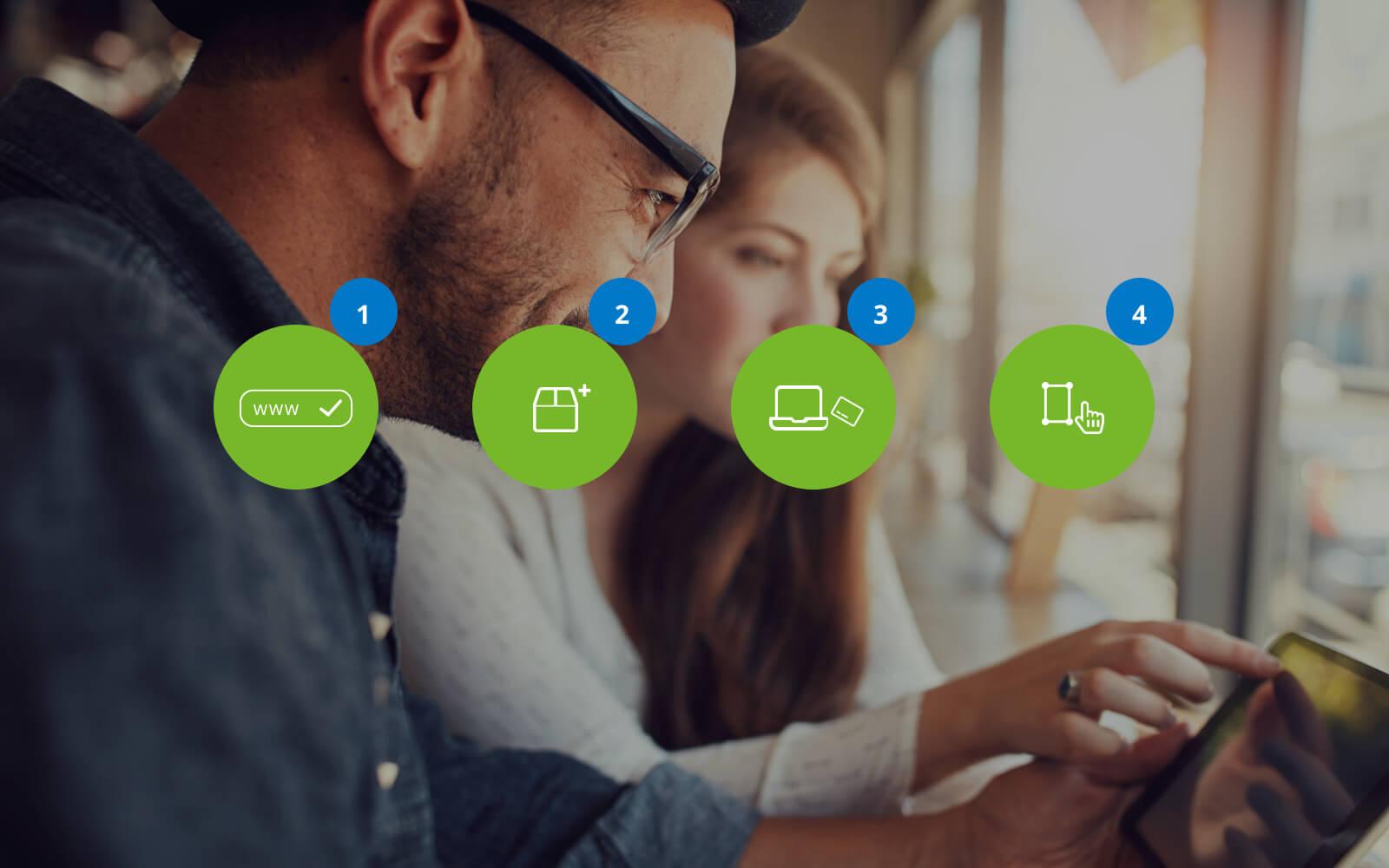 Vier stappen om een eigen webshop te maken
